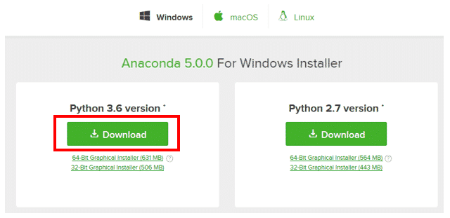 AnacondaでPython3をインストール(Windows/Mac編)
